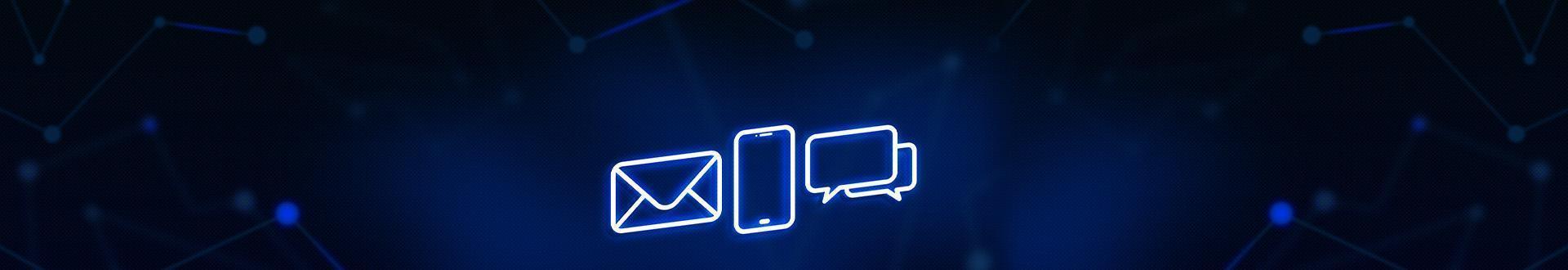 Neonowe ikony kontaktowe