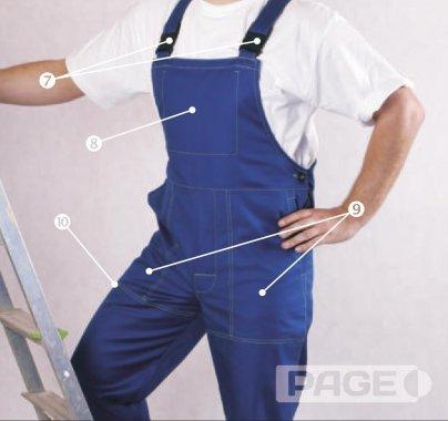 Schemat ubrania roboczego dla spawacza