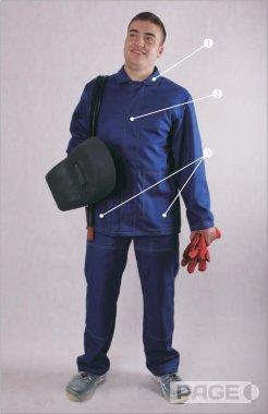 Schemat ubrania dla spawacza